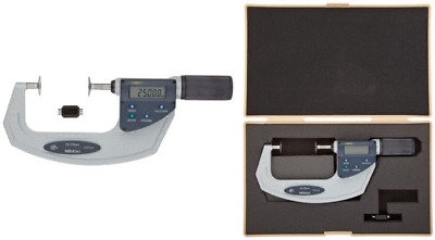 Mitutoyo 369-412 Digimatic Non-Rotating Spindle Disc Micrometre, 25 mm-55 mm