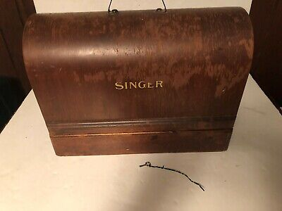 VTG 1937 Singer Vintage Antique Sewing Machine With Wood Case