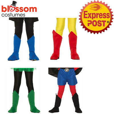 AC700 Child Super Hero Boot Top Toppers Shoe Covers Girls Boys Costume Accessory