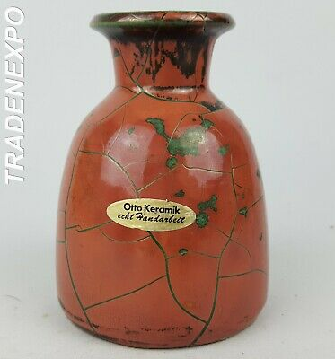 Vintage 1970s OTTO KERAMIK Mauve Pink Vase West German Pottery Fat Lava Era