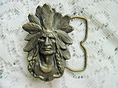 Indian Head Chief Retro Vintage Novelty Belt Buckle Xmas Gift Men Elegant VU