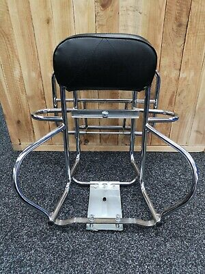 Vespa PX150 Cuppini Chrome Rear Rack and Wheel Holder - In Excellent Condition