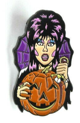 "Elvira Mistress of Dark Halloween 1.5"" Pin - Mailed from USA"