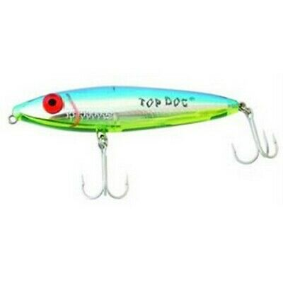 Mirrolure 84MR-CFPR Chartreuse//Pearl//Silver Side Top Dog Minnow Fishing Lure