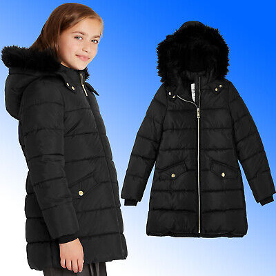 Girls Marks & Spencer £36 Long Padded Coat with Stormwear™ BACK TO SCHOOL Jacket
