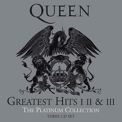 Queen Greatest Hits 1 2 & 3 - The Platinum Collection [Audio Music 3 CD Set] NEW