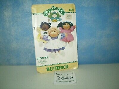 Butterick 1984 Cabbage Patch Kids CPK Doll Sewing Pattern 6509