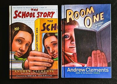 LOT 6 ANDREW CLEMENTS Books 2-in-1 FRINDLE No Talking SCHOOL