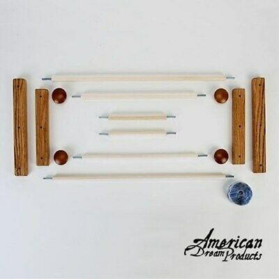 American Dream Starter Scroll Frame Set Oak - No Basting