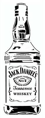 high detail airbrush stencil jack daniels bottle FREE POSTAGE