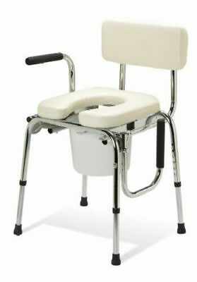 Terrific New Guardian Padded Drop Arm Commode Seat Chair G98204 Ibusinesslaw Wood Chair Design Ideas Ibusinesslaworg