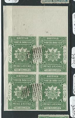 North Borneo (P2307B) $2.00 Arms, Lion Imperf Bl Of 4 Sg84A   Cto