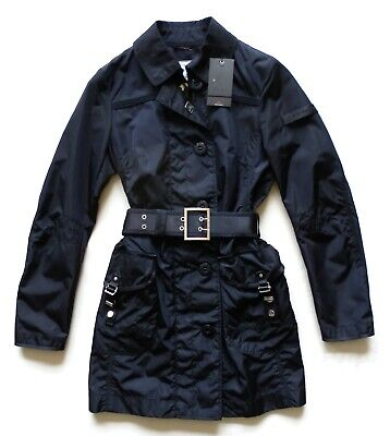 Peuterey Jacket Trench Long Woman Springy Water Mill PED0726 Blue
