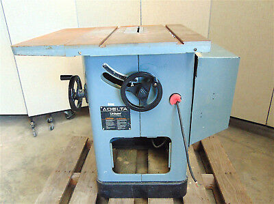 """Delta Unisaw 10"""" 87-370-3 Phase  5HP-208V  Good Cosmetic Condition SR275x"""