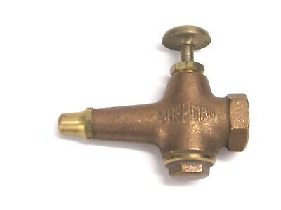 "Nos! Vintage Sherman Brass Push Button Air Nozzle Blow Gun, 3/8"" Ipt, 114-B"