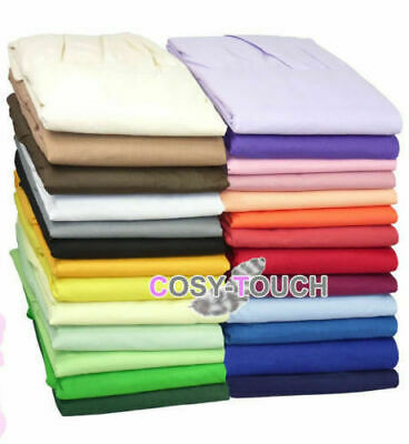 Small Single Bunk Bed Fitted Bed Sheet Poly Cotton Dyed 2 Ft 6 Inche 76 x 190 cm
