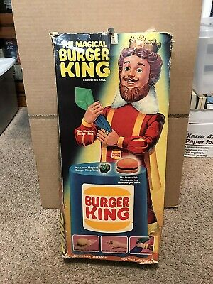 """Vintage The Magical Burger King Doll 20"""" Tall 1980 Knickerbocker With Box"""