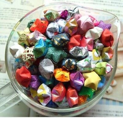 1600 Origami Lucky Star Paper for Funny Assorted