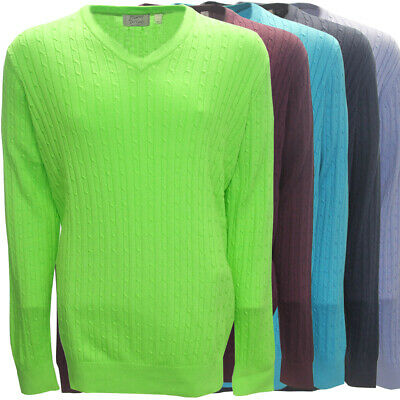McIlhenny Cable Knit Long-Sleeve V-Neck Golf Sweater by Tabasco,  Brand NEW