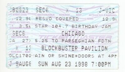 RARE Chicago the band 8/23/98 Charlotte NC Concert Ticket Stub!