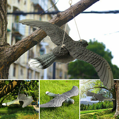 AU Hawk Kite Realistic Flying Bird Hawk Pigeon Decoy Pest Control Garden Scarer