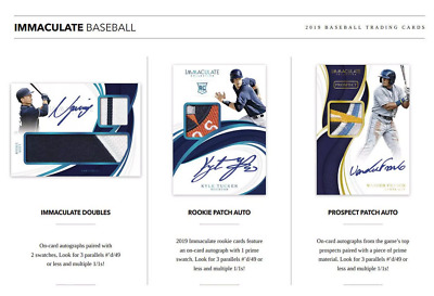 2019 Panini Immaculate Baseball Live Pick Your Player (Pyp) 1 Box Break #1