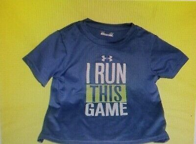 Under Armour Heatgear Baby Toddlers Boys Shirt / Top Size 4T Royal Blue