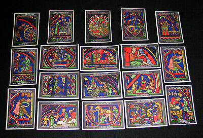 Lot 18 Cpsm Vitraux Cathedrale Chartres Corporations Pub Aspirine Carte De Pesee