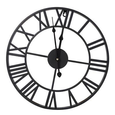 Iron Skeleton Wall Clock Antique gold Home Decor Round 40/60/80cm In & Outdoor