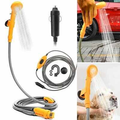 12V Camping Car Shower Spray Pump Kit Portable Vehicle Outdoor Travel Hiking New