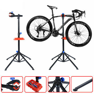 "1Pc Pro Bike 41"" to 75'' Adjustable Bicycle Rack Repair Stand with Tool Tray"