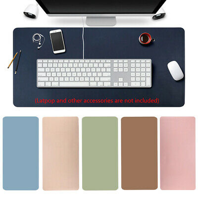 Large Leather  Computer Desk Mat Table  Keyboard Mouse Pad Laptop Cushion