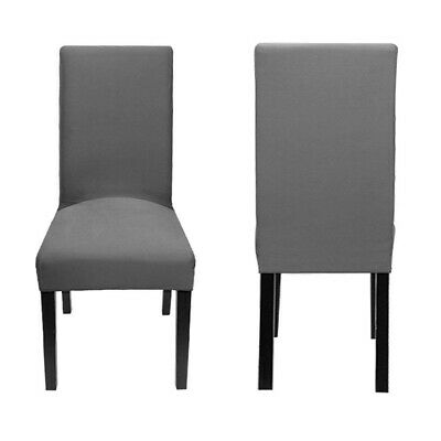 2 PCS Dining Chair Covers Spandex Slip Cover Stretch Wedding Banquet Party Deco