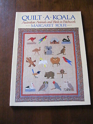 Quilt-A-Koala: Margaret Rolfe:  Australian Animals/Birds in Patchwork:  Preloved
