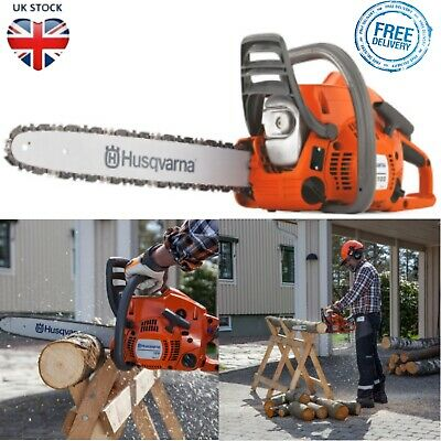 Husqvarna Petrol Chainsaw Tree Surgery Prune Cutter 2 Stroke Heavy Duty 36cm Bar