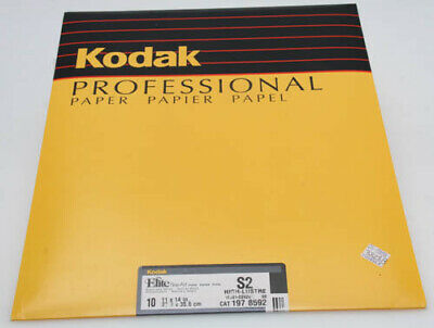 Kodak Elite Fine-Art b+w paper 10 sheet 11x14 S2 high lustre sealed 382813