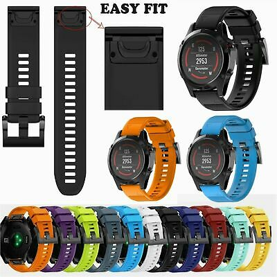 Quick Release Silicone Wrist Band Strap For Garmin Fenix 5 5X 5S GPS Watch UK