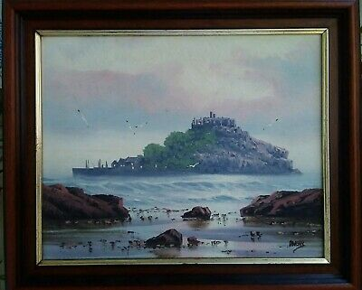 Framed Oil on Board by David Owens Dyer. St Michael's Mount Signed Lower