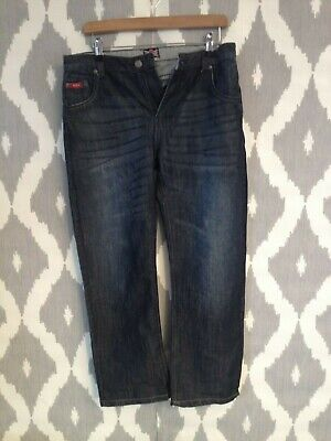 LEE COOPER Dark Blue Straight Leg Boys Jeans -Immaculate Condition - Age 13- 830
