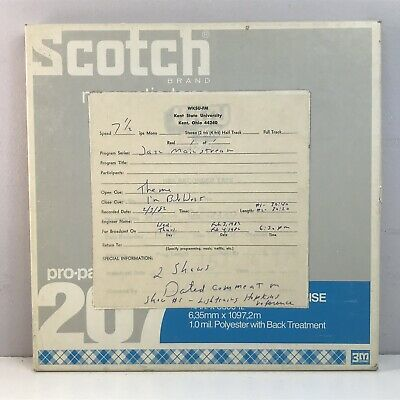 "Scotch 207 3M 10.5"" x 1/4"" Reel-to-Reel Recording Tape 3600 ft RN Clean Box Used"