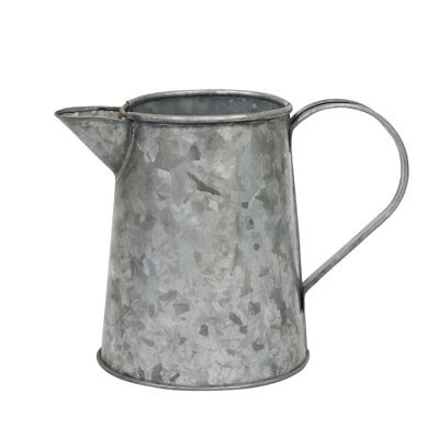 Stonebriar Collection Antique Galvanized Metal Jug