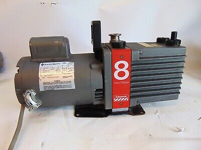 Edwards Two Stage E2M8 Rotary Vane High Vacuum Pump 1/2HP RPM1725/1425 S4280