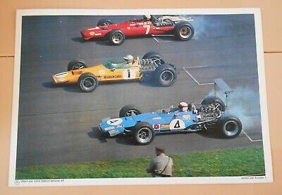 PUBLICITE ELF 1970 - Matra elf type MS 10 - PILOTE ELF COURSE AUTOMOBILE