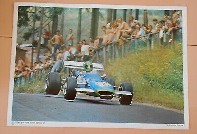 PUBLICITE ELF 1970 - Matra elf type MS 7 - PILOTE ELF COURSE AUTOMOBILE