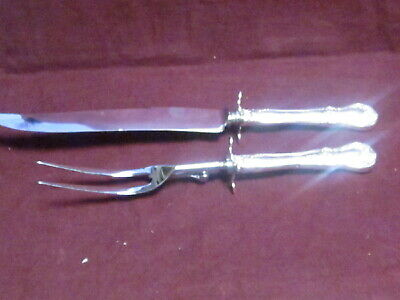 """Sterling Towle OLD MASTER CARVING SET KNIFE 13 1/2"""" FORK 11""""  no mono"""