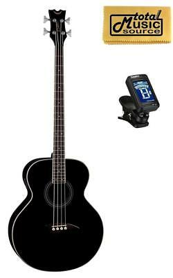 Dean 4 String Acoustic Electric Bass Classic Black FREE TUNER, CLOTH ,EAB CBK P