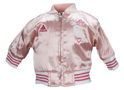 Adidas NCAA Infant Baby Girls Oklahoma Sooners Varsity Cheer Jacket - Pink