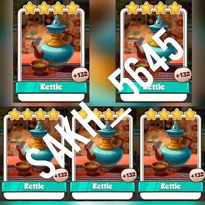 5 x Kettle - Coin Master Cards ( Fastest Delivery )