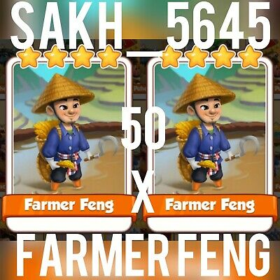 5 x Farmer Feng - Coin Master Cards ( Fastest Delivery )