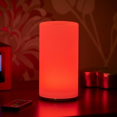 Auraglow Rechargeable Cordless Wireless Colour Changing LED Table Lamp – PILLAR